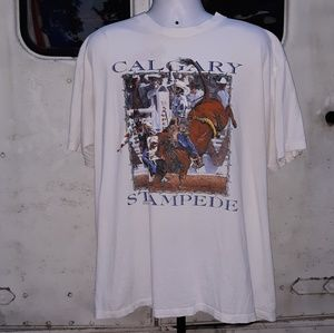 Vintage Calgary Stampede Bull Riding T size XL